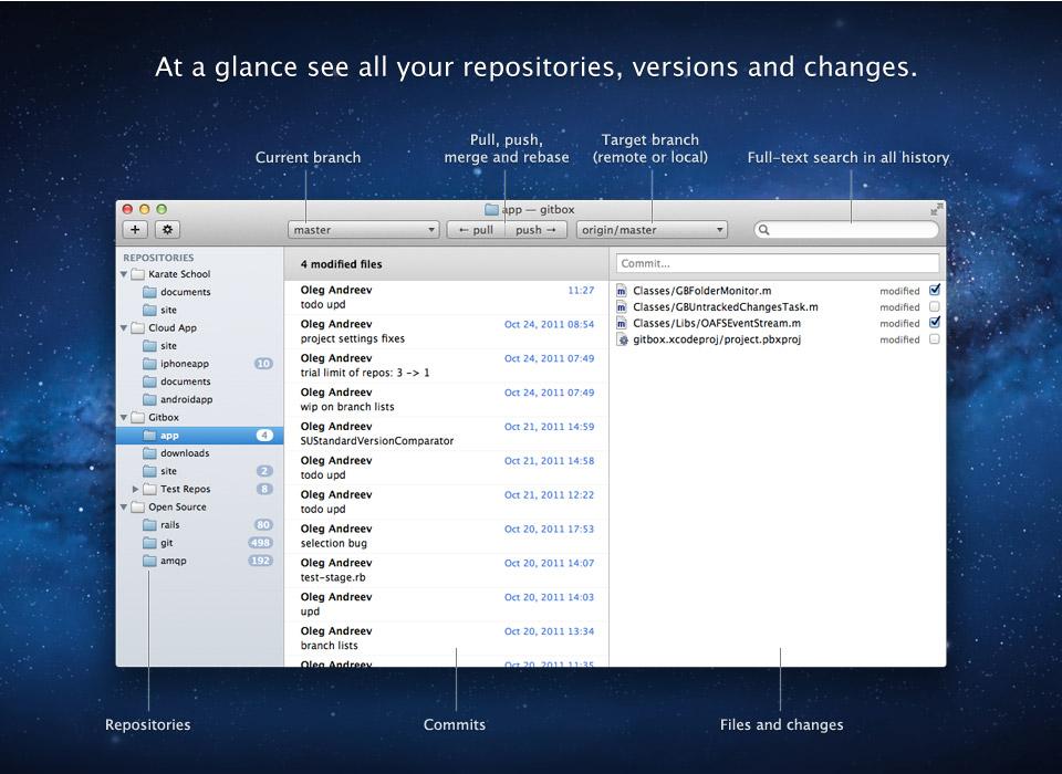 Gitbox — The version control app on a Mac